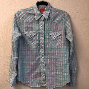 Vintage Western Shirt Womens Ely Plains